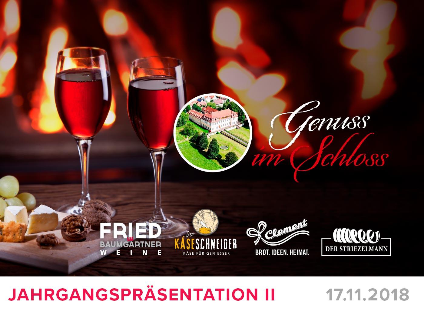 "Featured image for ""Genuss im Schloss – Jahrgangspräsentaton November 2018"""