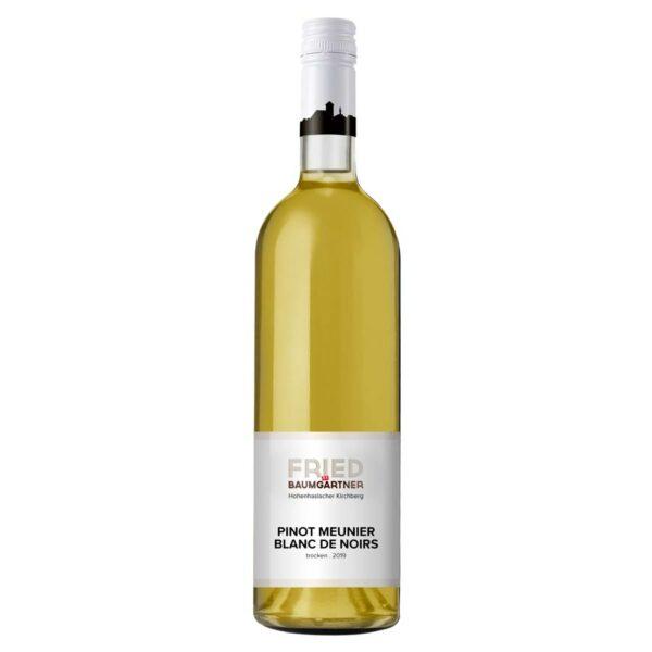 0,75l Flasche Pinot Meunier Blanc de Noirs, Schwarzriesling Weißgekeltert