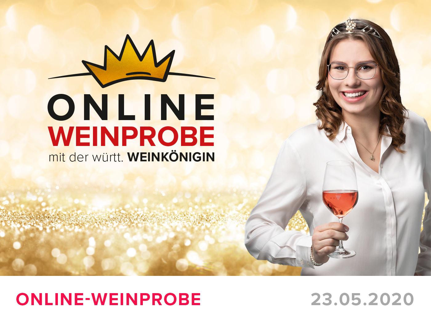 """Featured image for """"ONLINE-Weinprobe am 23.05. mit der württ. Weinkönigin"""""""