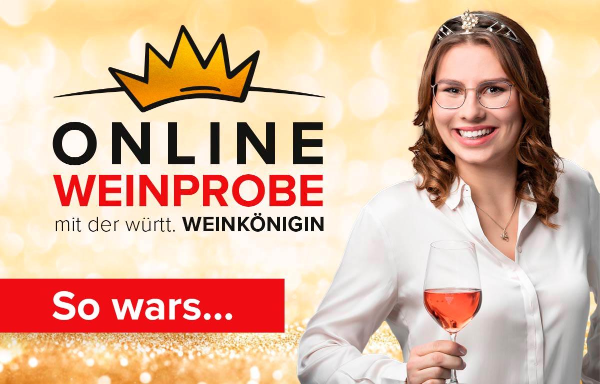 """Featured image for """"Online Weinprobe mit der württ. Weinkönigin – so wars"""""""