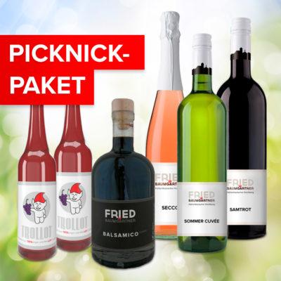 Picknick-Paket Flaschenfoto