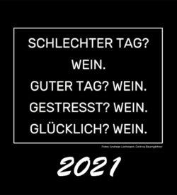 Titelblatt Kalender Weinsprüche 2021